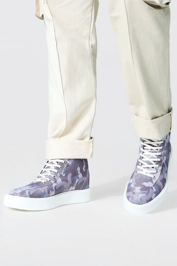 Neutral Camo Branded High Tops