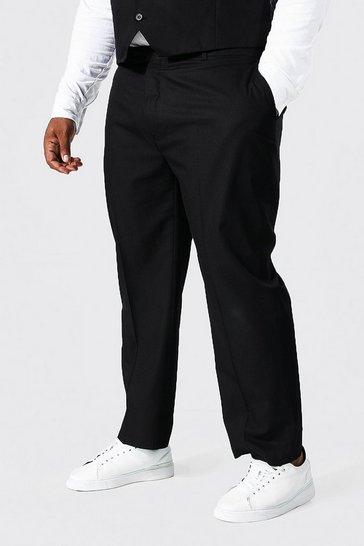 Black Plus Size Slim Fit Smart Trouser