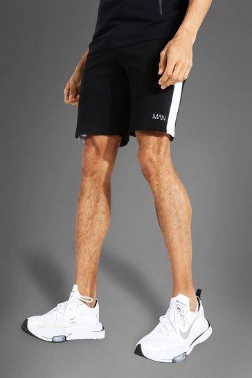 Black Tall Man Active Side Block Short
