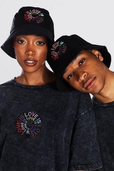 Black Pride Love Is Love Circle Print Bucket Hat