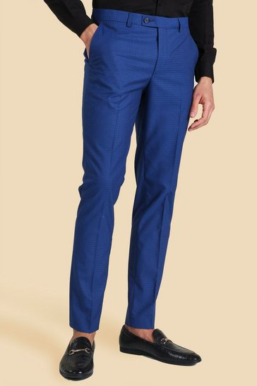 Skinny Blue Suit Trouser