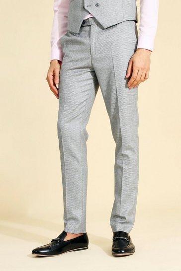 Skinny Grey Suit Trouser