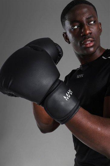 Black Man Active Boxing Gloves