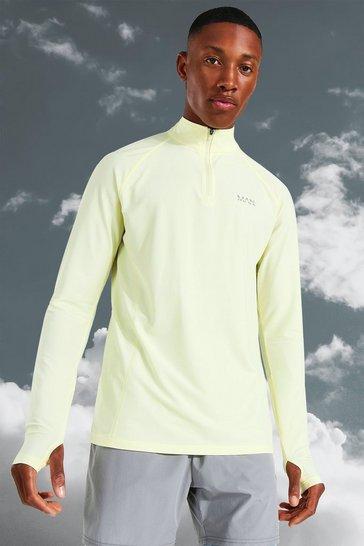 Yellow Man Active Lightweight Marl 1/4 Zip Top
