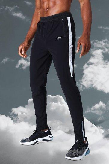 Black Man Active Lightweight Side Stripe Jogger