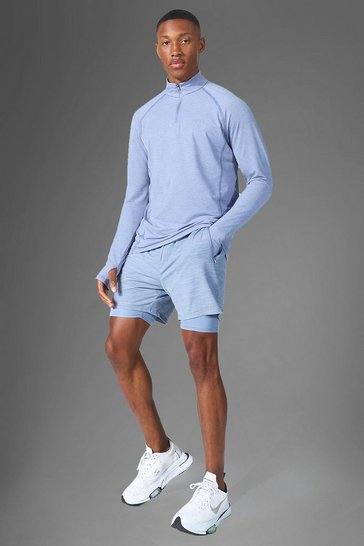 Grey Man Active Lightweight Marl 1/4 Zip Top