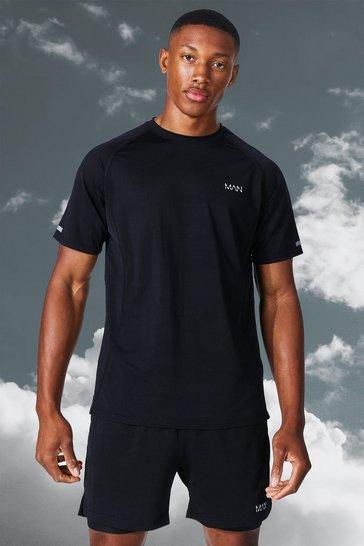 Black Man Active Lightweight Marl T-shirt