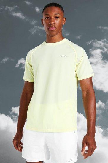 Yellow Man Active Lightweight Marl T-shirt