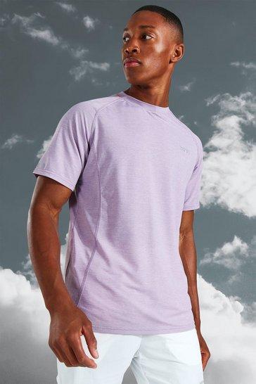 Mauve purple Man Active Lightweight Marl T-shirt