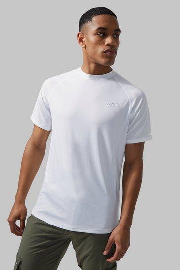 White Man Active Lightweight Marl T-shirt