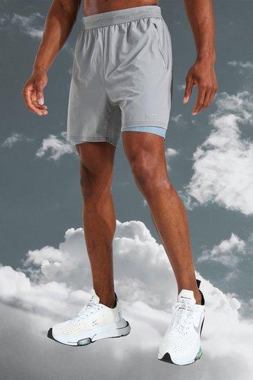 Grey Man Active Lightweight Tonal 2 In 1 Short