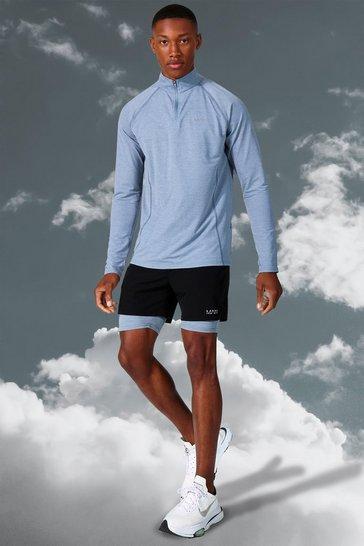 Grey Man Active Lightweight 1/4 Zip Top Short Set