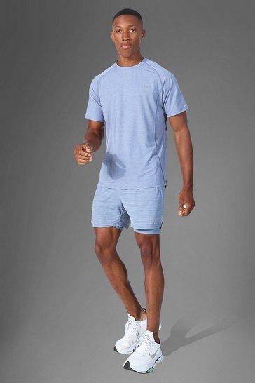 Grey Man Active Lightweight Marl T Shirt Short Set