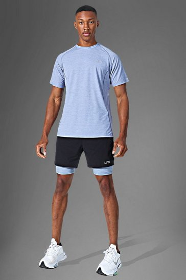 Grey Man Active Lightweight Contrast Short Set