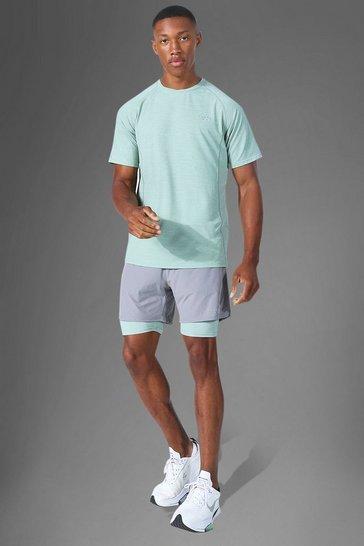 Mint green Man Active Lightweight Contrast Short Set
