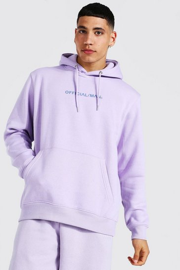 Lilac purple Official Man Over The Head Hoodie