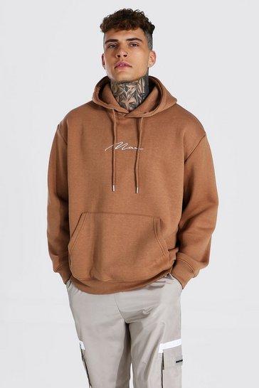 Brown Man Signature Oversized Hoodie