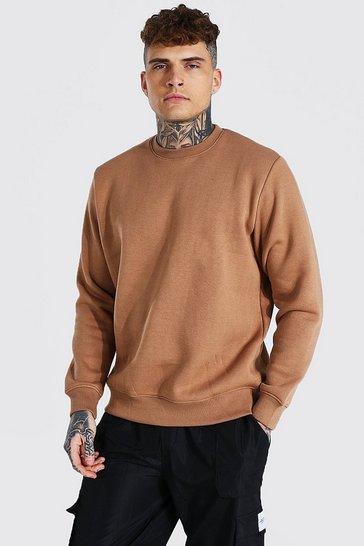 Brown Crew Neck Sweatshirt