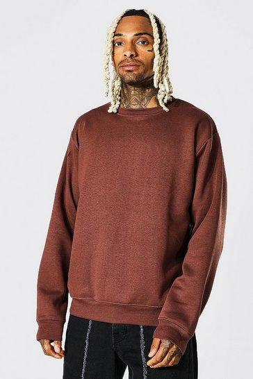 Chocolate brown Crew Neck Sweatshirt