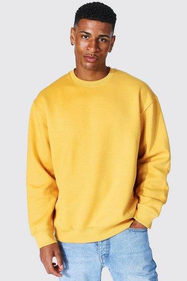 Mustard yellow Oversized Crew Neck Sweatshirt