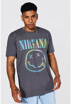 Charcoal grey Oversized Nirvana License T-shirt