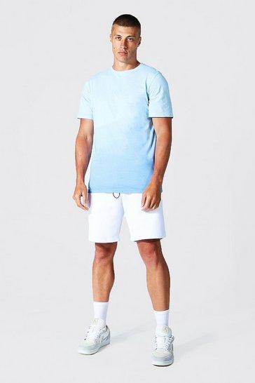 Blue Ombre Man T-shirt & Short Set