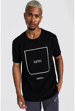 T-shirt oversize - MAN, Black noir