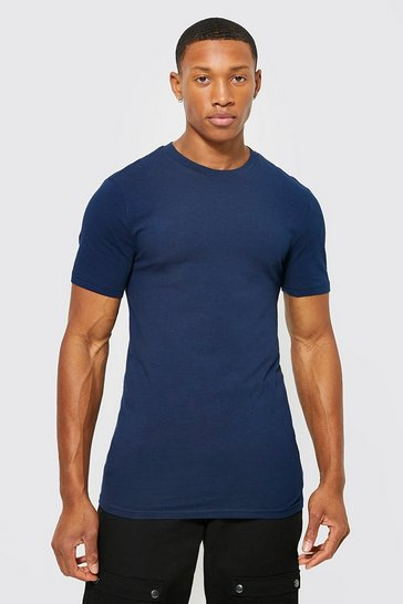 Multi 5 Pack Muscle Fit Crew Neck T-shirt