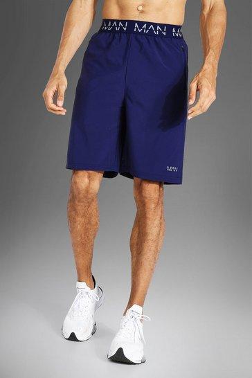 Navy Tall Man Active Waistband Short