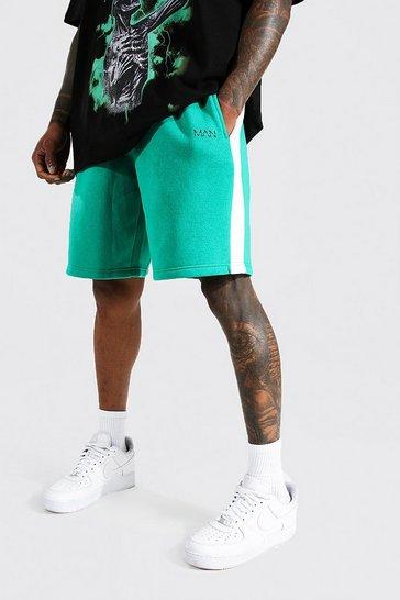 Green Original Man Mid Loose Side Panel Shorts