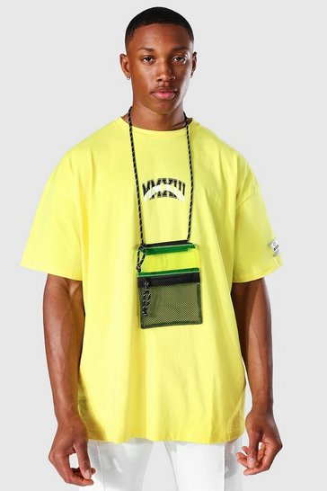 Yellow Plastic Lanyard Bag