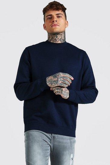 Navy Recycled Regular Fit Sweatshirt