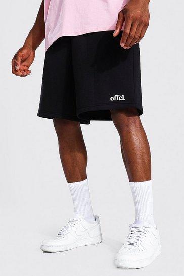 Black Offcl Waistband Loose Fit Jersey Short