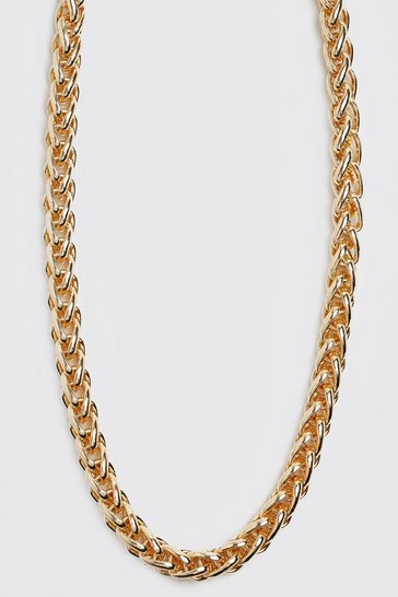 Gold metallic Chunky Rope Chain Necklace