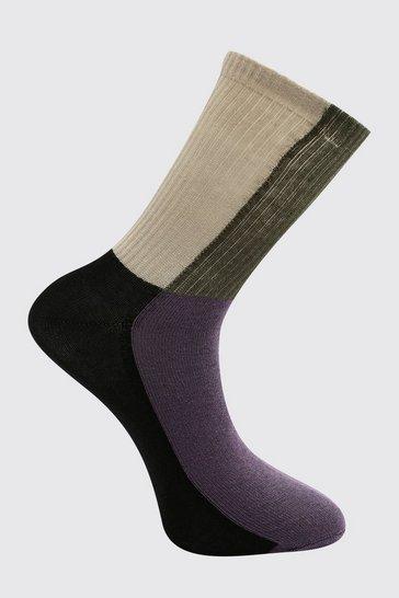 Multi Colour Block Socks