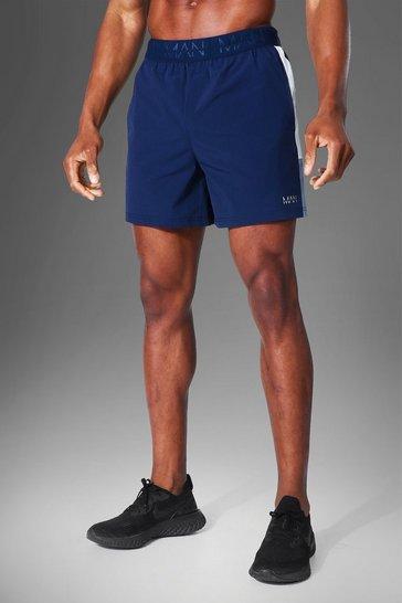 Navy Man Active Lightweight Side Panel Short
