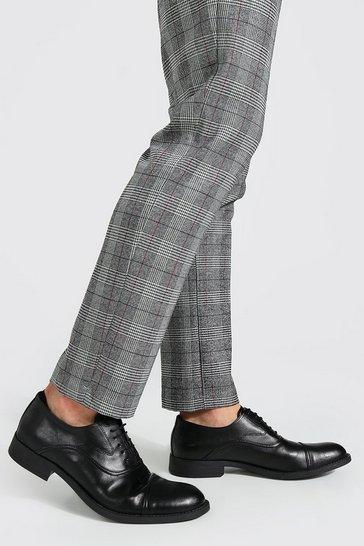 Black Lace Up Derby Shoe