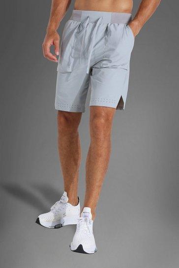 Grey Tall Man Active Seam Detail Short