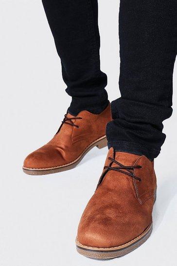 Tan brown Faux Suede Desert Shoe