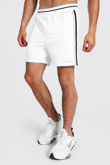 White Man Active Rib Stripe Short