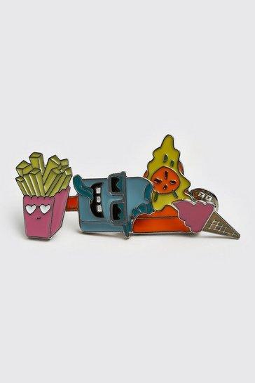 Multi 4 Pack Food Pin Badges