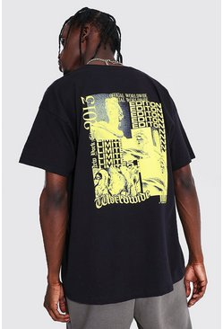 Black Oversized Limited Edition Back Print T-shirt