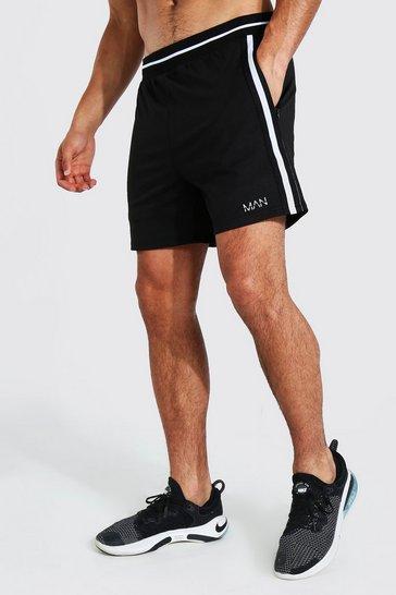 Black Man Active Rib Stripe Short