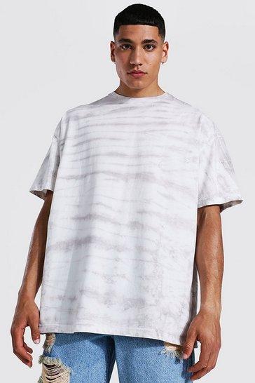 Stone beige Oversized Tie Dye T-shirt