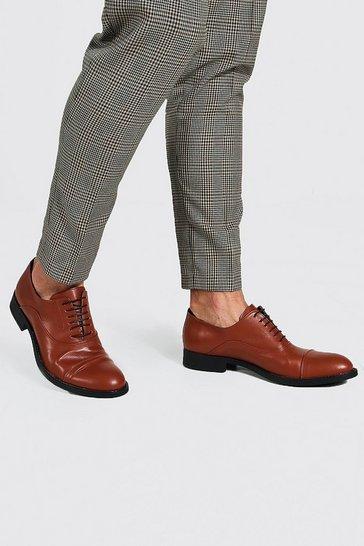 Tan brown Faux Leather Desert Shoe