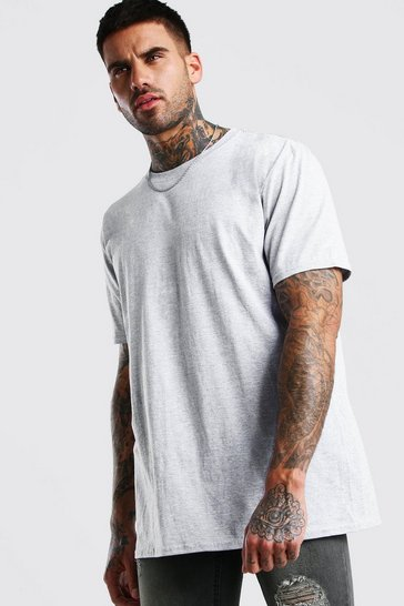 Grey Basic Crew Neck T-shirt