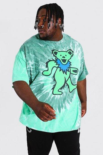 Green Plus Tie Dye Grateful Dead License T-shirt