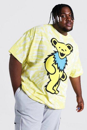 Yellow Plus Tie Dye Grateful Dead License T-shirt