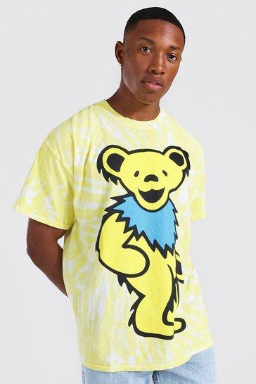 Yellow Oversized Grateful Dead Tie Dye T-shirt