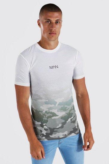 Khaki Muscle Fit Original Man Camo Ombre T-shirt